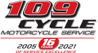 109 Cycle Motorcycle Service Logo